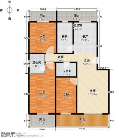 众智慧谷3室2厅2卫0厨152.00㎡户型图