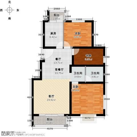 汤泉墅3室2厅1卫0厨95.00㎡户型图