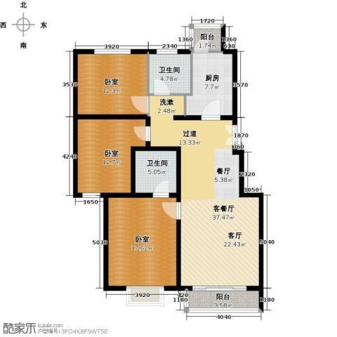 汤泉墅3室2厅2卫0厨117.00㎡户型图