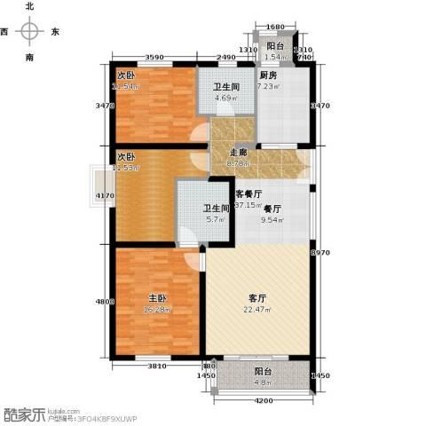 汤泉墅3室2厅2卫0厨114.00㎡户型图