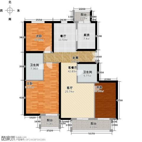 汤泉墅3室2厅2卫0厨137.00㎡户型图