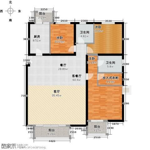 汤泉墅3室2厅2卫0厨155.00㎡户型图
