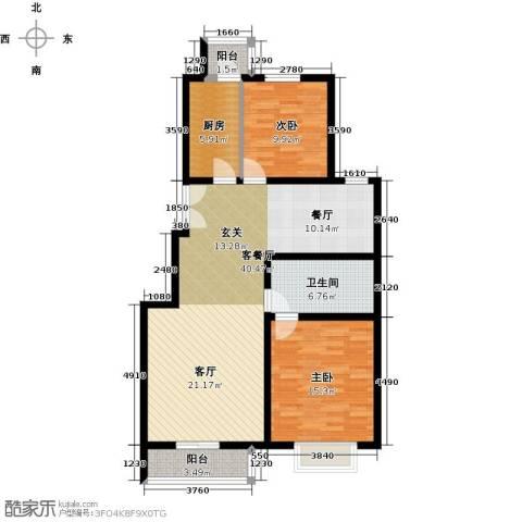 汤泉墅2室2厅1卫0厨95.00㎡户型图