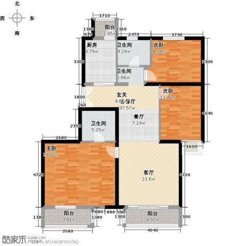 汤泉墅3室2厅2卫0厨129.00㎡户型图