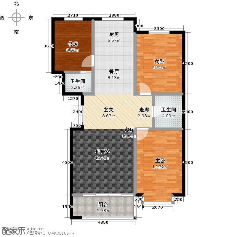三鑫亚龙湾100.12㎡K户型3室2厅2卫