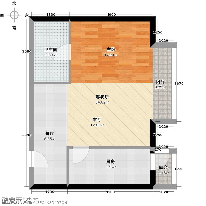 悠唐・麒麟公馆70.63㎡8#2座04户型10室