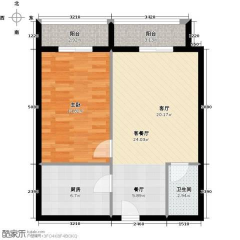 恒泰公馆1室1厅1卫0厨77.00㎡户型图