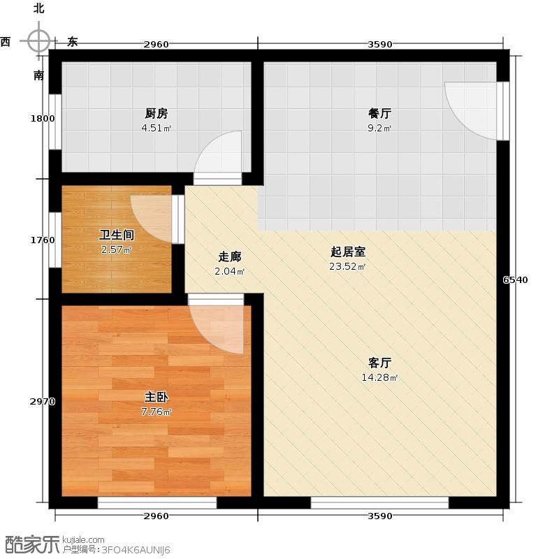 德宜信锦绣天台42.83㎡户型10室