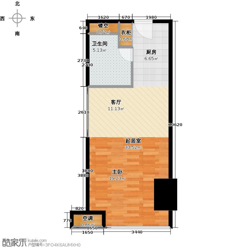 阳光新业中心46.00㎡D1户型1室1厅1卫