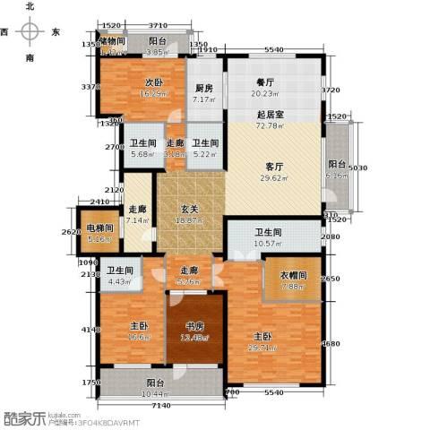 五矿万科・如园4室2厅3卫0厨250.00㎡户型图