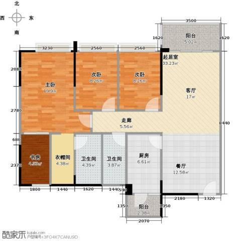 纯水岸4室2厅2卫0厨105.18㎡户型图