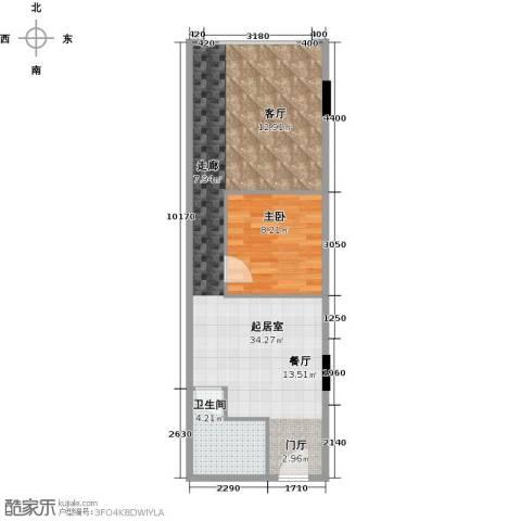 CUV国际公寓72.00㎡户型图