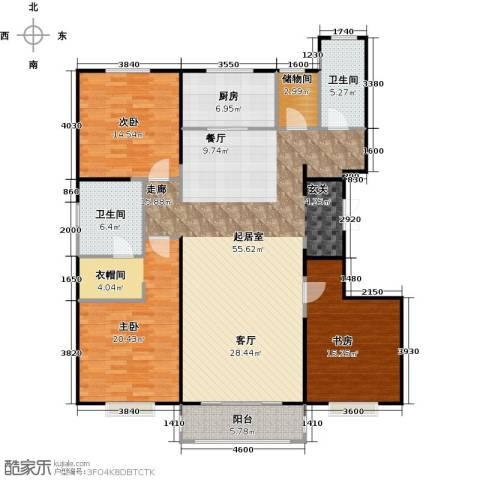 中信府・世家3室2厅2卫0厨170.00㎡户型图