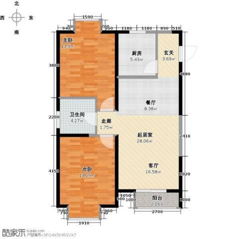 四季风情2室1厅1卫0厨92.00㎡户型图