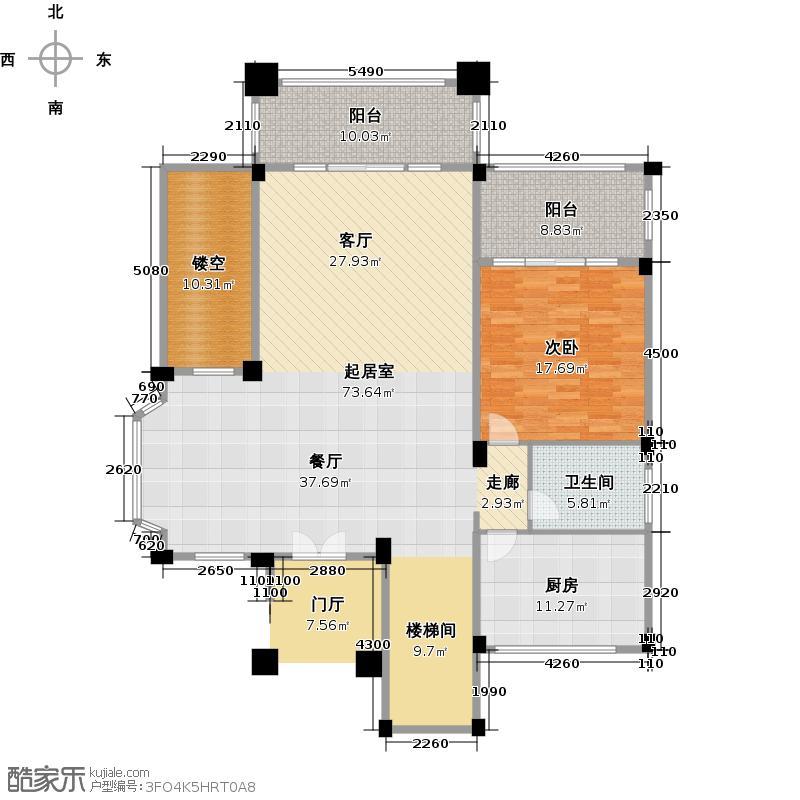 成都雅居乐花园417.83㎡香草山组团E2型一层户型10室