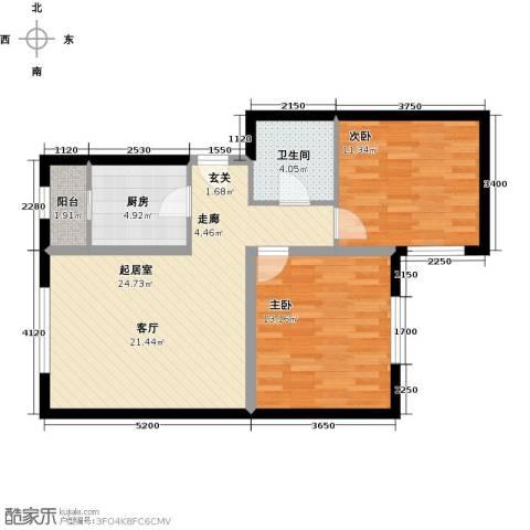 万科红狮家园86.00㎡户型图