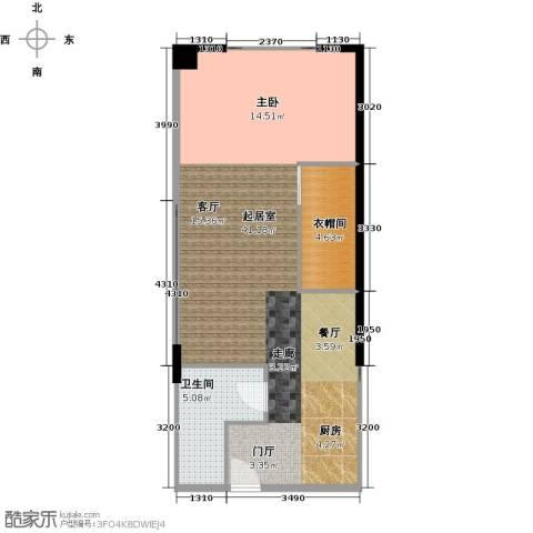 CUV国际公寓80.00㎡户型图