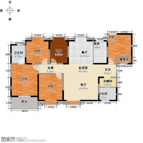 领先尊域5室0厅2卫1厨175.00㎡户型图