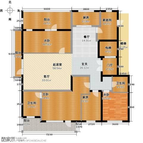 五矿万科・如园4室2厅2卫0厨220.00㎡户型图