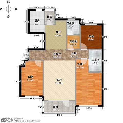 红星海世界观3室1厅2卫1厨110.58㎡户型图