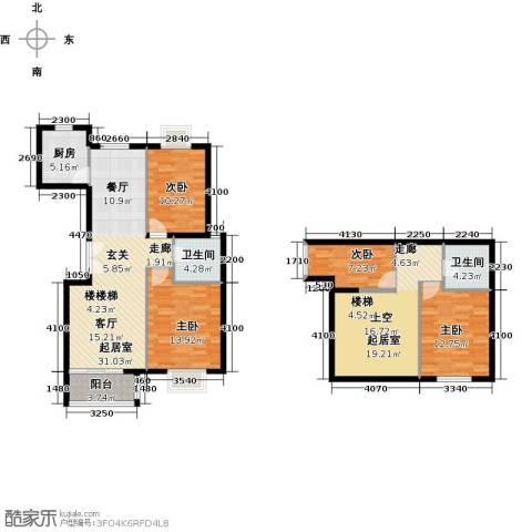 世纪星城・全朝阳3室2厅3卫0厨155.00㎡户型图