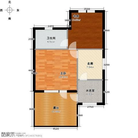 红星海世界观2室0厅1卫0厨74.34㎡户型图