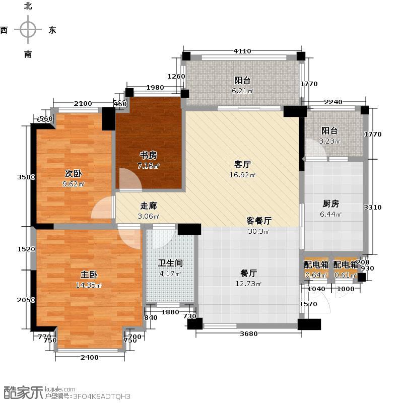 碧桂园凤凰城92.57㎡户型10室