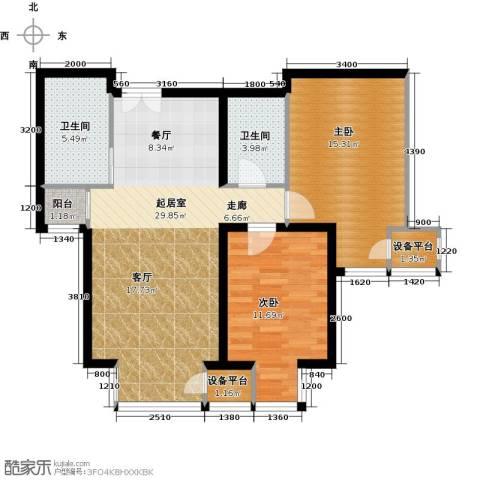 中铁置业・翰庭99.00㎡户型图