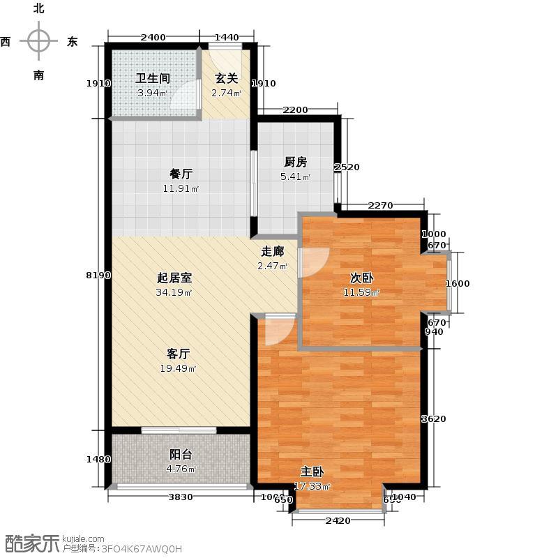 府东公园6栋84.54㎡二期D2座0户型2室2厅1卫