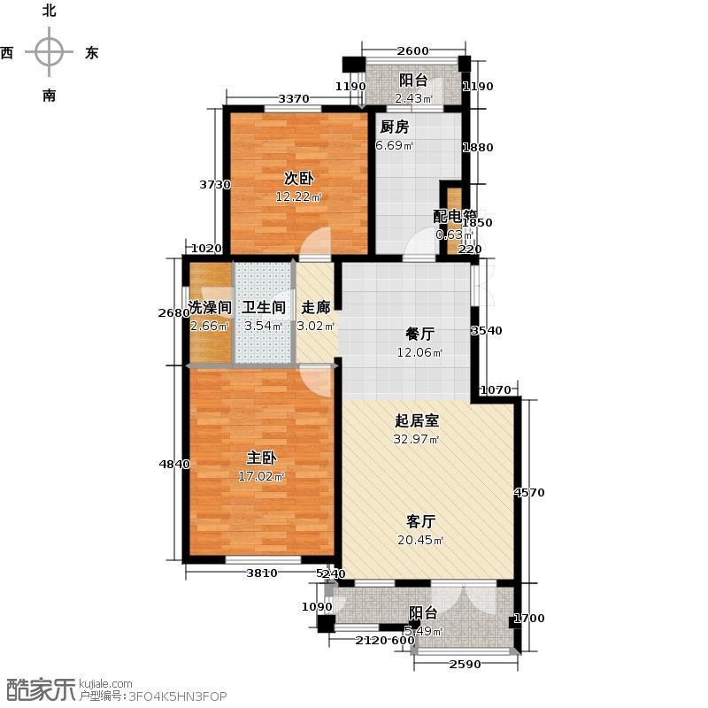 万通生态城新新家园108.00㎡洋房5F户型10室