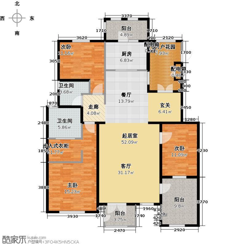 万通生态城新新家园161.00㎡洋房3F户型10室