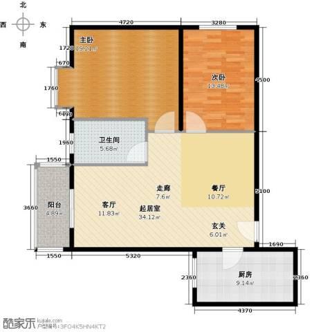 安诚御花苑94.00㎡户型图