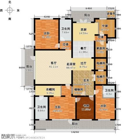 五矿万科・如园4室2厅3卫0厨290.00㎡户型图