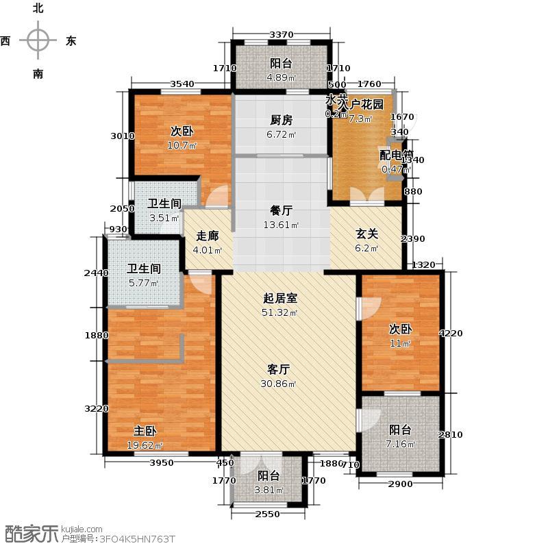 万通生态城新新家园146.77㎡户型3室2厅2卫