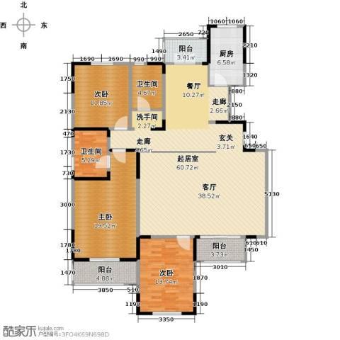 沽上江南3室2厅2卫0厨147.57㎡户型图