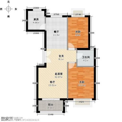 世纪星城・全朝阳2室2厅1卫0厨98.00㎡户型图