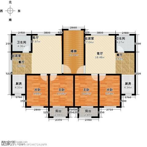 城南人家2室2厅1卫0厨121.76㎡户型图