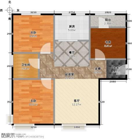 中信府・世家3室2厅1卫0厨82.00㎡户型图