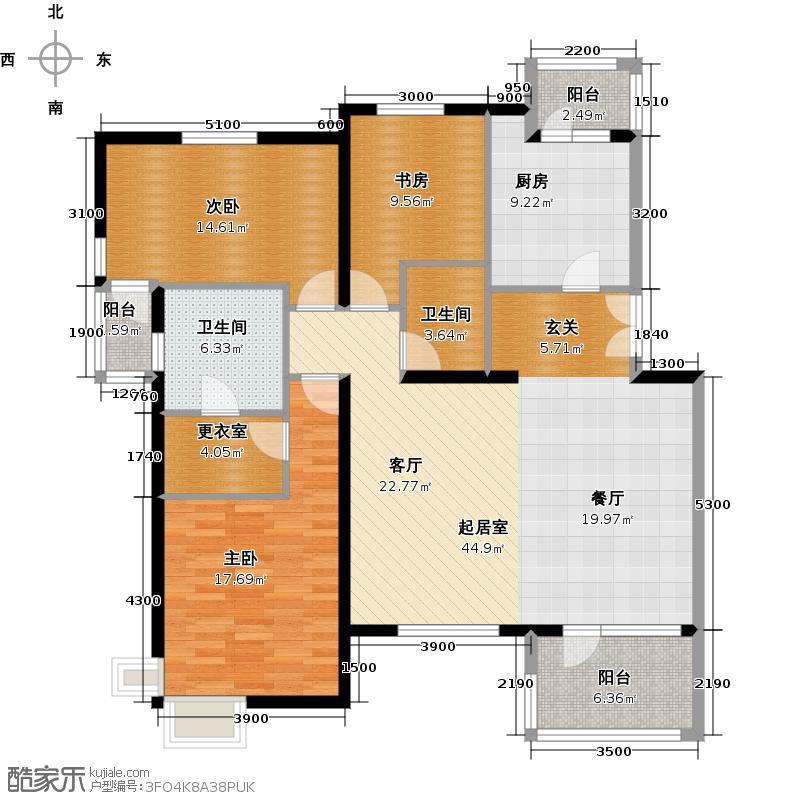 金融街・金色漫香林145.00㎡D1-4端户型10室