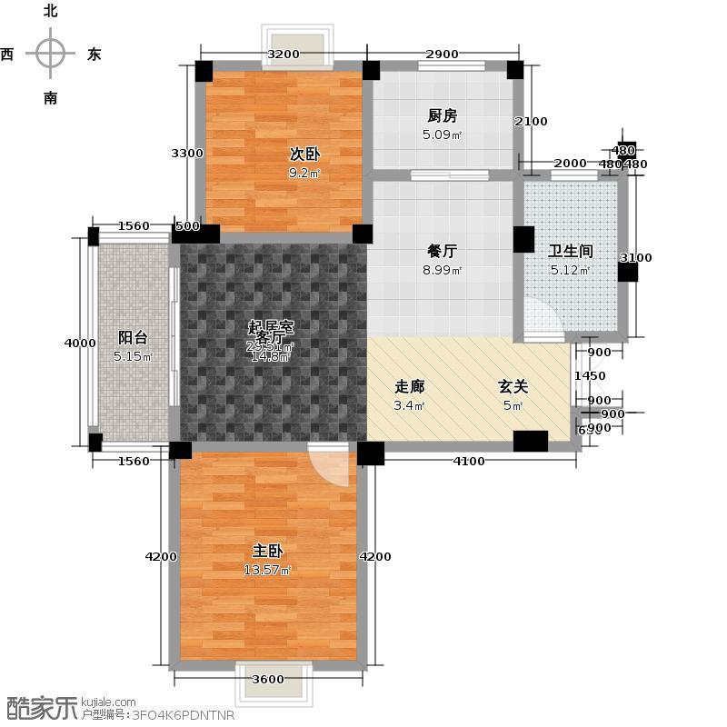 华鸿・汇盛德堡76.40㎡汇盛德堡户型10室