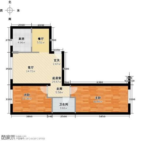 万科红狮家园88.00㎡户型图
