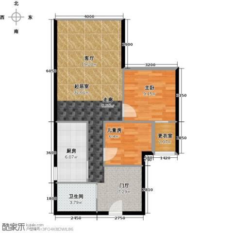 CUV国际公寓93.00㎡户型图