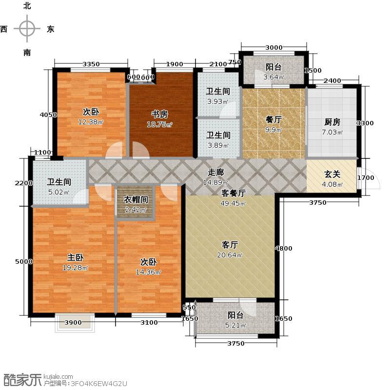 金地圣爱米伦171.00㎡2-A1户型4室2厅2卫
