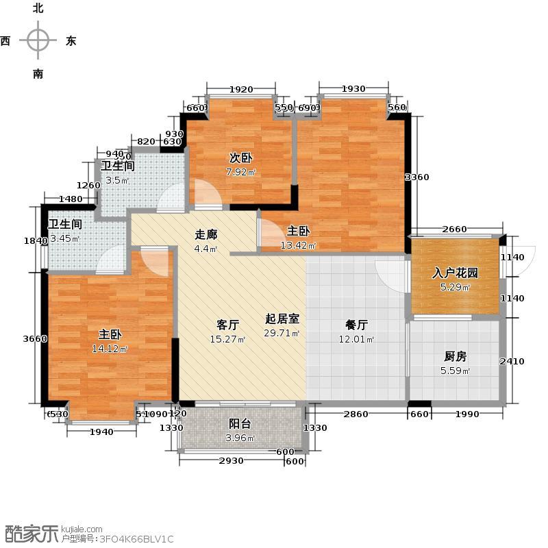 水韵翔庭105.12㎡B栋03户型3室2厅2卫