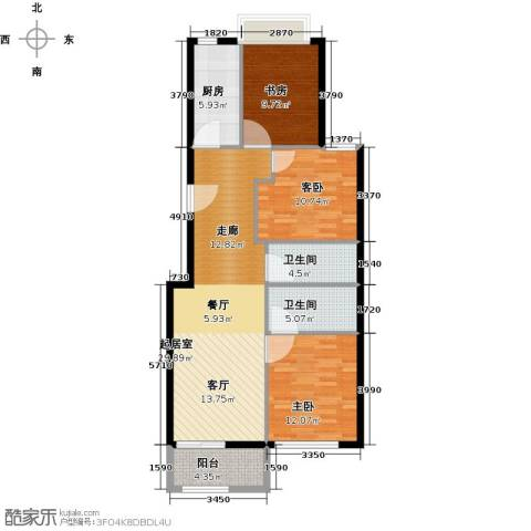 塞纳维拉・永定华庭3室2厅2卫0厨101.00㎡户型图