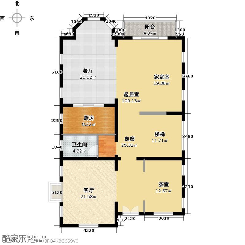 珠江紫宸山138.65㎡K09二层户型10室