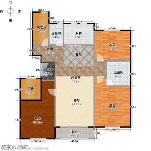 中信府・世家3室2厅2卫0厨142.00㎡户型图