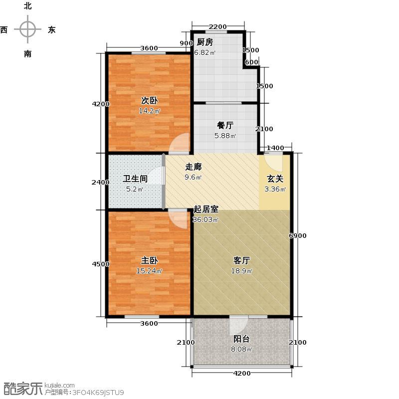 华韵欧风博文苑91.14㎡A2-2面积9955m2户型10室
