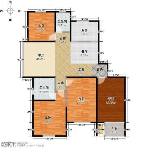 高尔夫国际花园4室2厅2卫0厨186.00㎡户型图