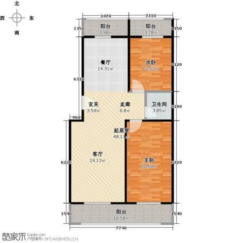 众智慧谷2室2厅1卫0厨112.00㎡户型图